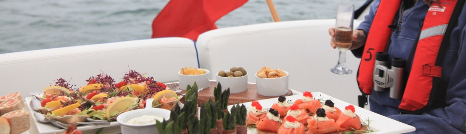 Beales-Gourmet-Boat-Trip-canapes-finger-buffet-catering-dorset_1